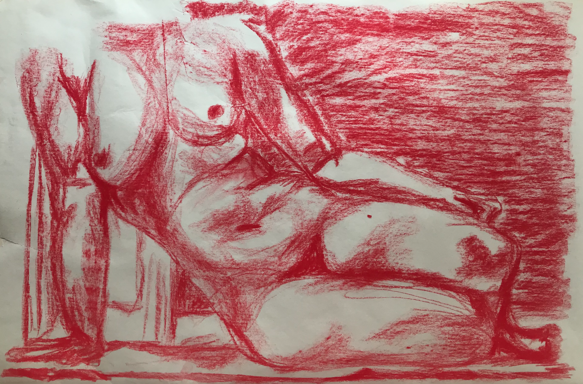 Figure Study in Red